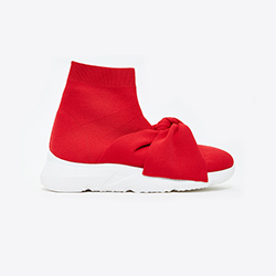 8-2 Red Stretch Knit Speed Trainers