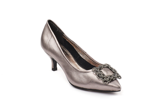 286-8 Pewter Sophisticated Heels