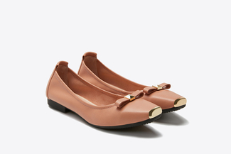2188-1 Pink Bow Flats