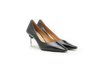 11-01A Black Classy Patent Leather High Heels
