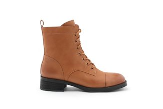998-1A Brown Lace up Combat Boots
