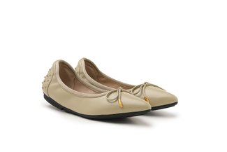 208-18 Green Everyday Ribbon Pointed Leather Flats